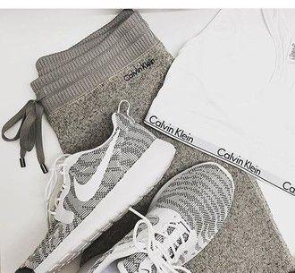 pants calvin klein nike shoes tan grey