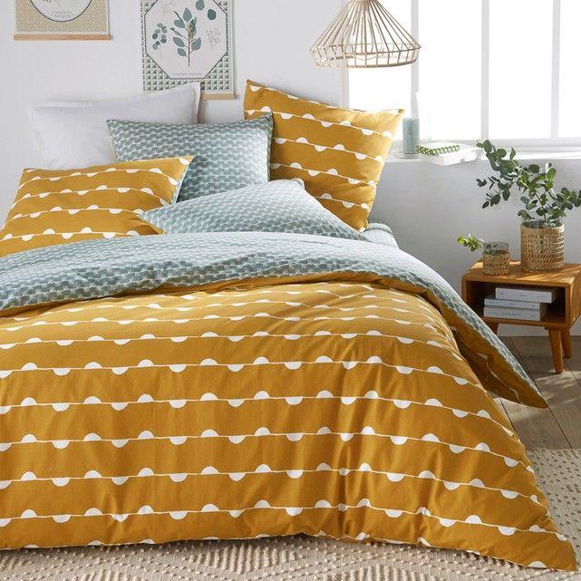 Funda Nordica 100 Algodon Irun Grafico Y A Color El Conjunto Irun Combina Los Estampados Geometricos Pa Duvet Covers Beautiful Duvet Cover Mustard Bedding