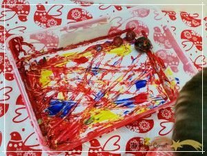 Marble Painting with Primary Colours