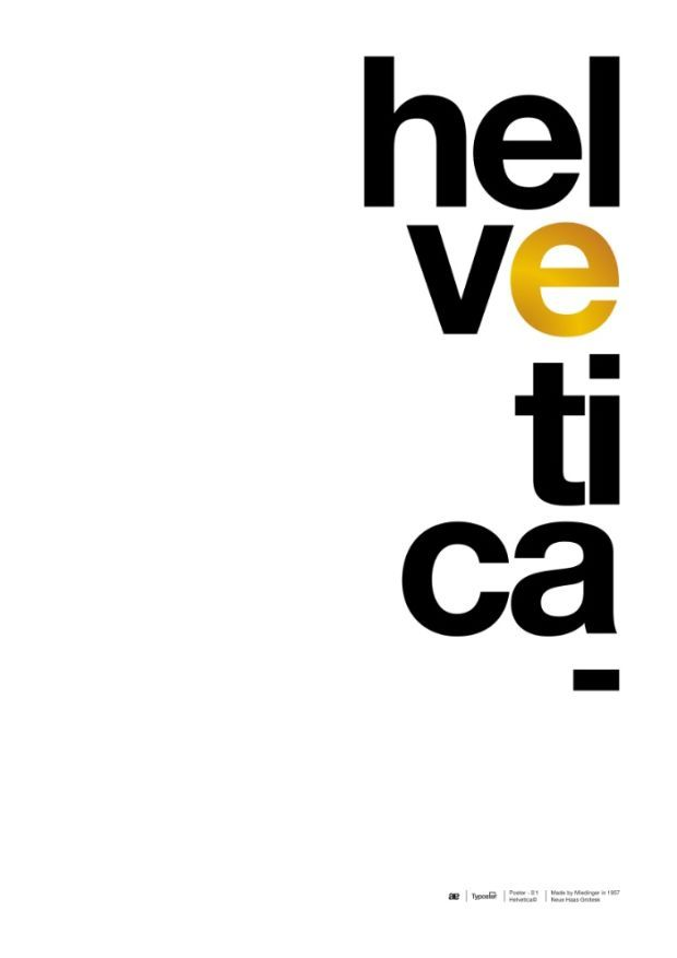 9 Striking Typographic Posters That Pay Tribute To The Iconic Helvetica - UltraLinx