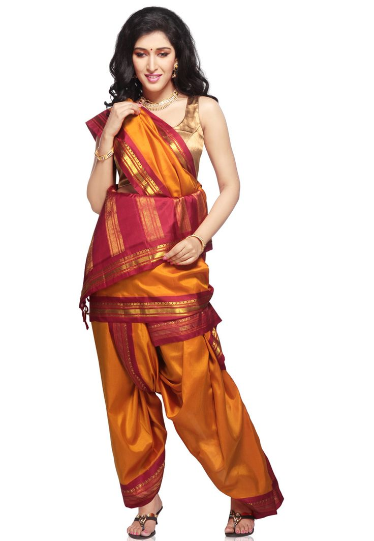 Tradtional lovely saree, dhoti draped style, what was once a village girl practicality might feel like a luxurious princess in this