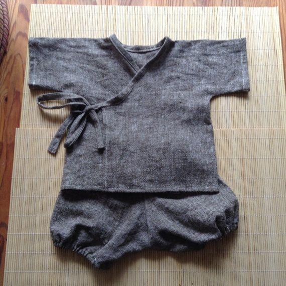 Handmade Baby Kimono set / ThePetalandthePea on Etsy                                                                                                                                                                                 More