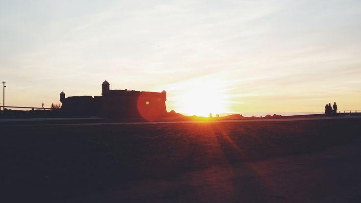 Por do sol em Matosinhos, depois de um belo passeio :)