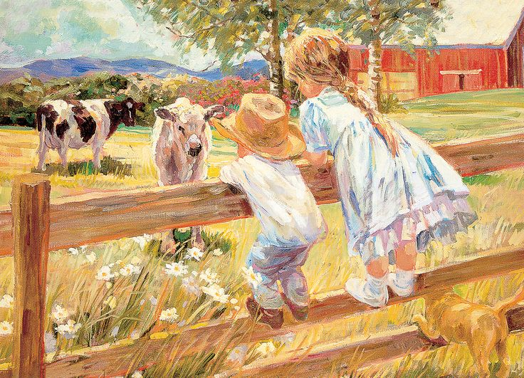 Kids on a Fence by Corinne Hartley. 1000-Piece Puzzle ...