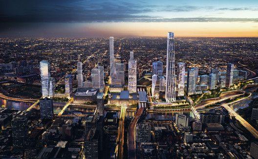 SOM Reveals Plans for New Urban District Around Philadelphia's 30th Street Station