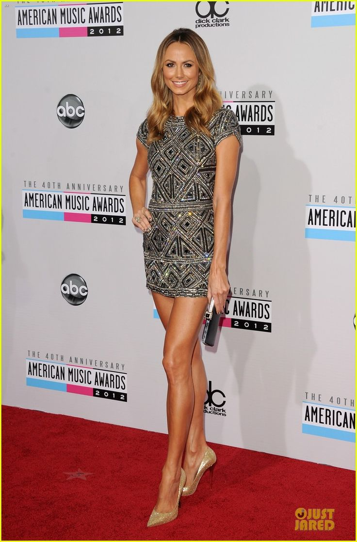 Can't.even.hate. Stacy Keibler in Collette Dinnigan, AMAs 2012 Red Carpet