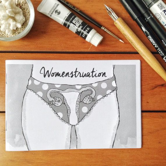 Womenstruation (Elle Ominoreg) is a compilation of 27 pages of stories, poetry, and illustrations; all drawn in scribbling style to show the emotions of women behind her menstruation.  This pocket zine companion tells about menstruations a lot, her pudendas whatabouts, quirky jargons to joke about, and a character guide to womens vagination.