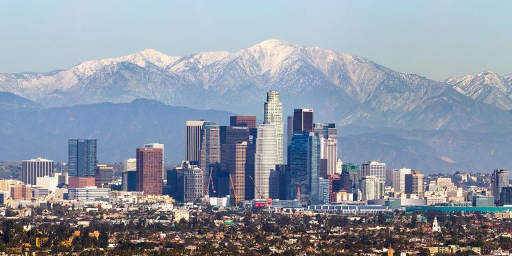 https://flic.kr/p/qC8GdP | Los Angeles Mountains Pano | A rare winter storm hit southern California last night. Knowing that the mountains had snow and the smog that usually obscures Los Angeles would be greatly reduced, I made the journey to photograph it. This is taken from Kenneth Hahn Park, which I found using Google Earth to search for a hilly area in line with the skyline and snowy mountains. This image is a panorama of six vertical images taken at 300mm on a 1.6x crop camera.