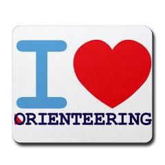 """I <3 Orienteering"" Mousepad"