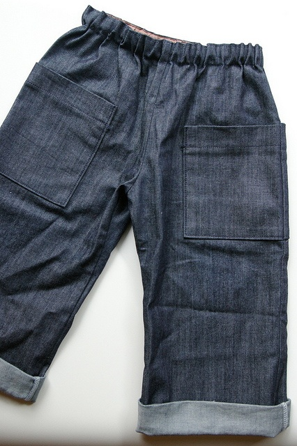 baggy boy denims. Pattern from Makie Japanese sewing book