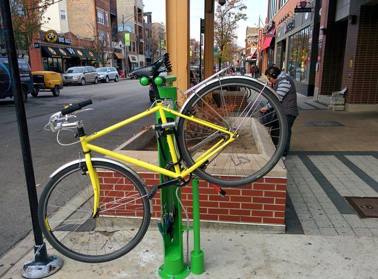 how to fix a bike on a bike rack