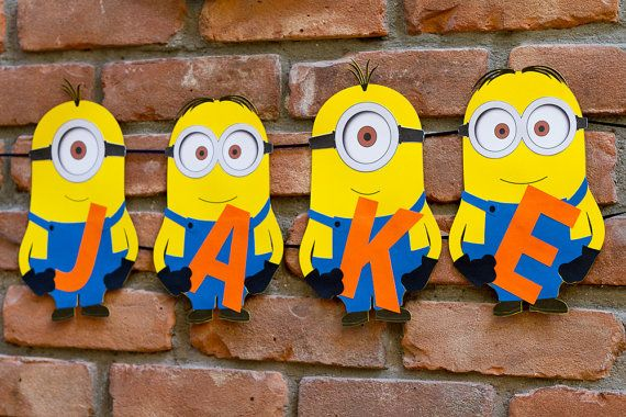 Minions Party Banner Personalized Despicable by FestivaPartyDesign, $25.00