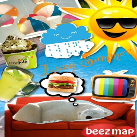 Make a collage picture using numerous pictures of different sizes.
