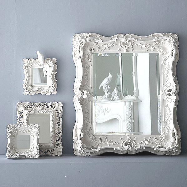 Boho Blanc Plaster Mirrors..exquisite hand-cast plaster framed mirrors