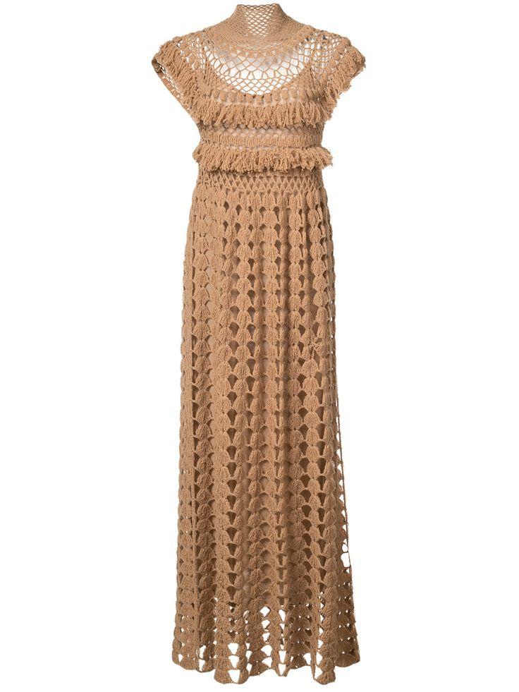Ryan Roche вязанное платье с высоким горлом