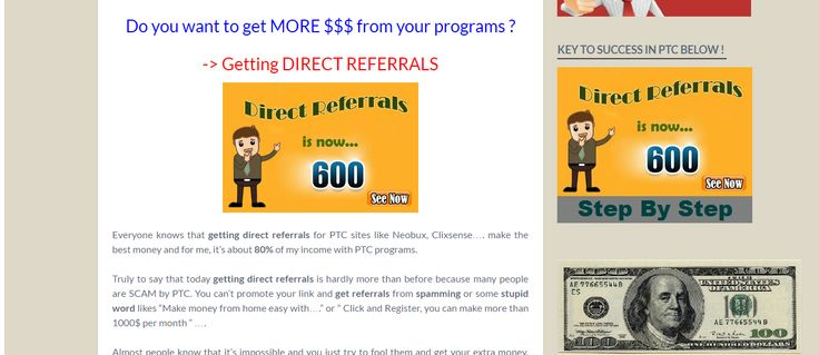How to get direct referrals for any PTC sites ?