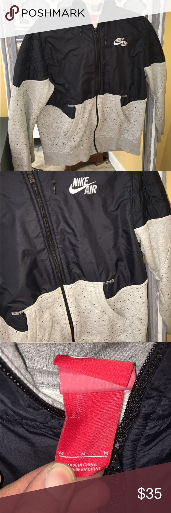 Nike Air Jacket Size Medium Men's Nike Air Jacket in Black and Gray Splatter in size Medium. Like New  Condition. Nike Jackets & Coats Performance Jackets