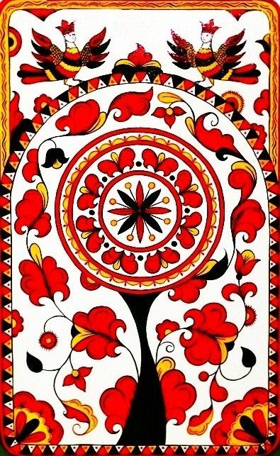 Russian pattern, traditional Permogorsk painting #folk #art