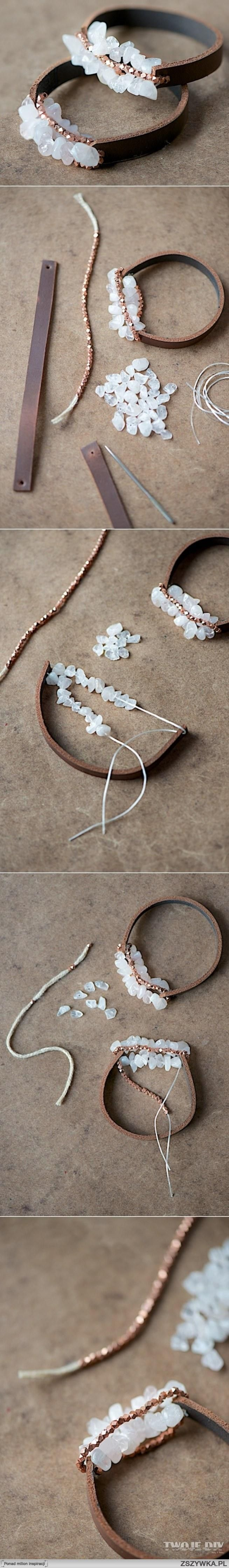 I think I could do this with a stretch string & masculine washer or beads for Chase!