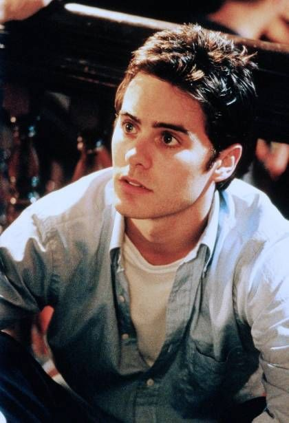 Young Jared Leto in Blue Jean Buttondown and White T-Shirt