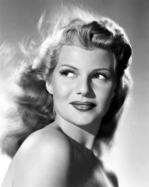 Rita Hayworth, gorgeous. Love the hair.