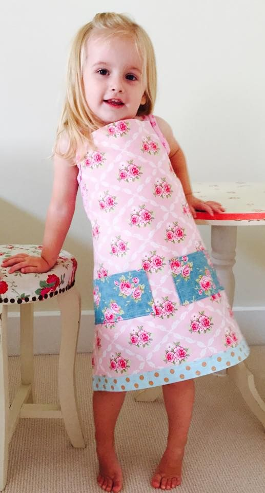 Vintage Floral Girls Aprons avail now at www.littlevintagehearts.com.au
