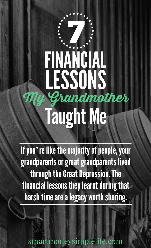 7 Financial Lessons My Grandmother Taught Me - Frugal living tips from my grandmother and lessons learned as she lived through the great depression. #FrugalLivingTips #GreatDepression Smart Money, Simple Life