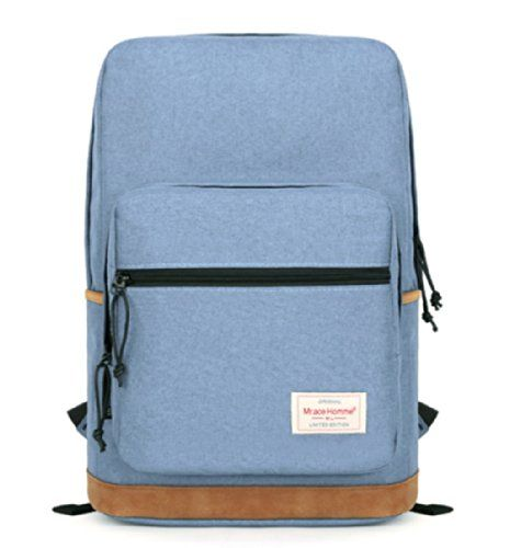 kmbuy - All-Purpose Style Unisex Fashionable Casual School Travel Shoulder Backpack Bag with Laptop Compartment / 40cm*28cm*15cm (Light Blue)  - Click image twice for more info - See a larger selection of casual backpacks at http://kidsbackpackstore.com/product-category/kids-casual-backpacks/ - kids, kids backpack, school backpack, everyday backpack, school bag, gift ideas, teens backpacks.