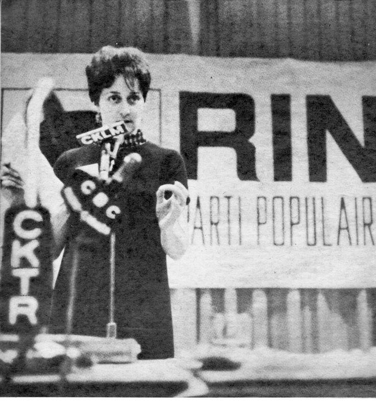 Andrée Bertrand-Ferretti, Nous sommes doublement colonisés et exploités en tant que Québécois et en tant que travailleurs  /  assemblée publique du R.I.N. du mardi 12 décembre 1967.