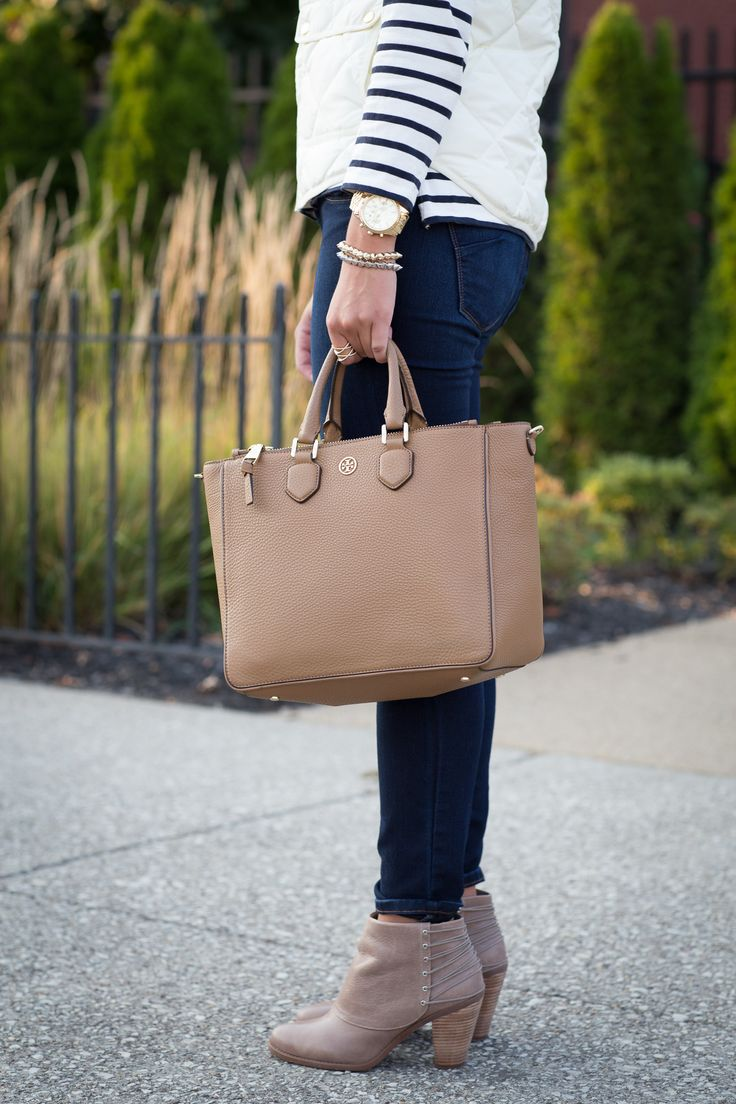 Ivory Quilted Vest + Stripes