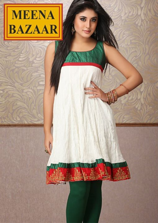 Crush Kurti with Embroidered Border on Cotton Jaquard fabric