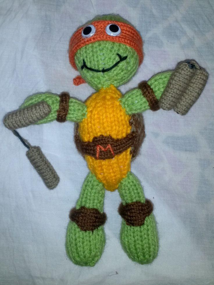 Knitting Pattern For Teenage Mutant Ninja Turtles : Knitted Teenage Mutant Ninja Turtle Knitted Childrens Hats Pinterest...
