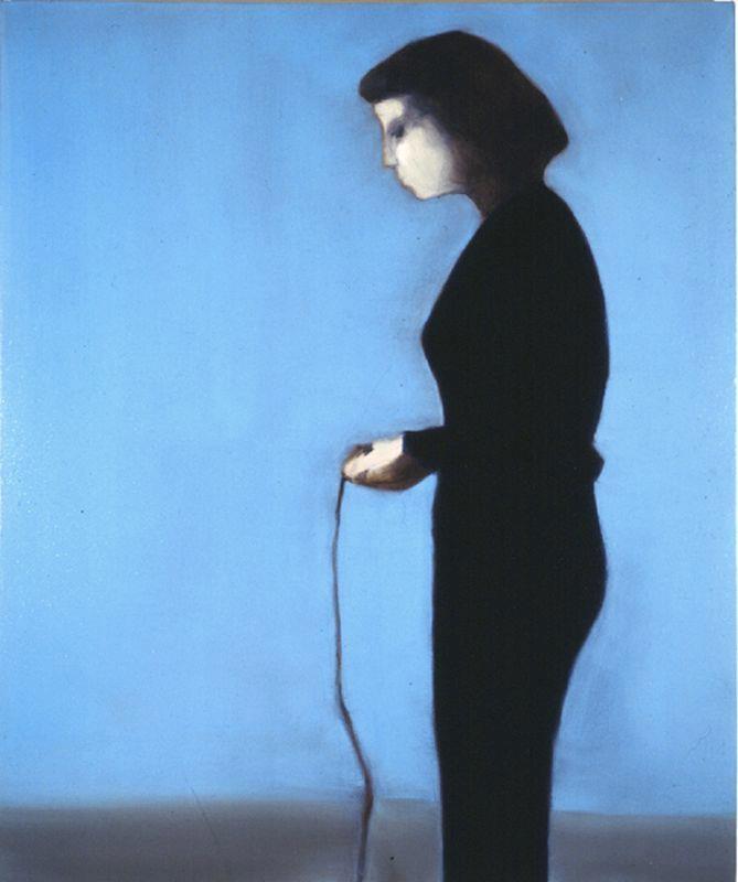 Miltos Manetas, GIRL WITH PLAYSTATION, 1997