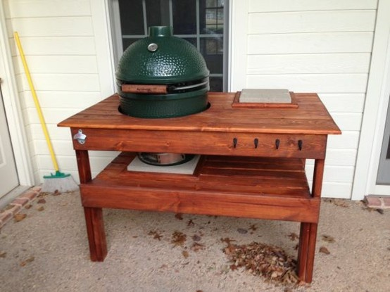 Custom Big Green Egg Table | Grilling and Barbecue | Pinterest ...