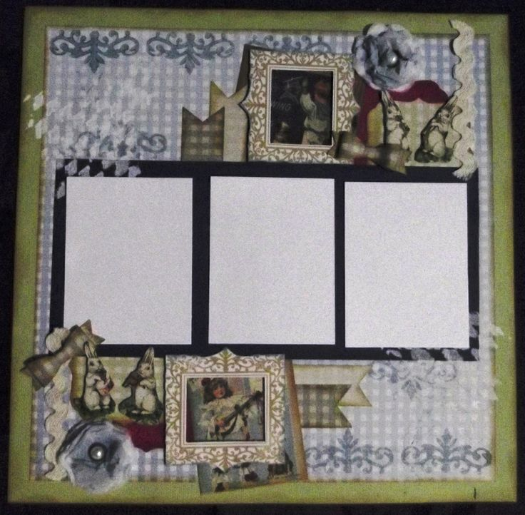 Little Rabbits - a layout done for a baby or little boy.