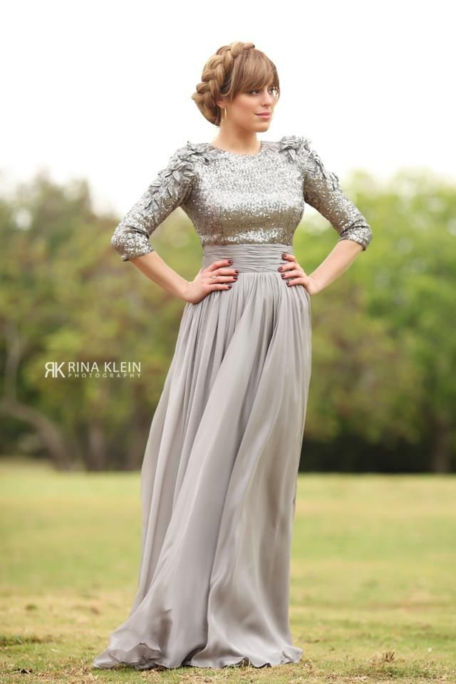 Exelent Tznius Gowns Component - Wedding Dresses From the Bridal ...