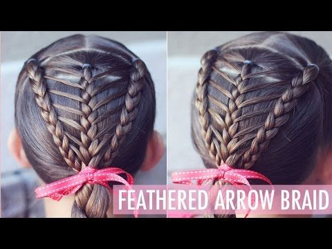 How to: Feathered Arrow Braid | EASIER THAN IT LOOKS!! | Brown Haired Bliss - YouTube