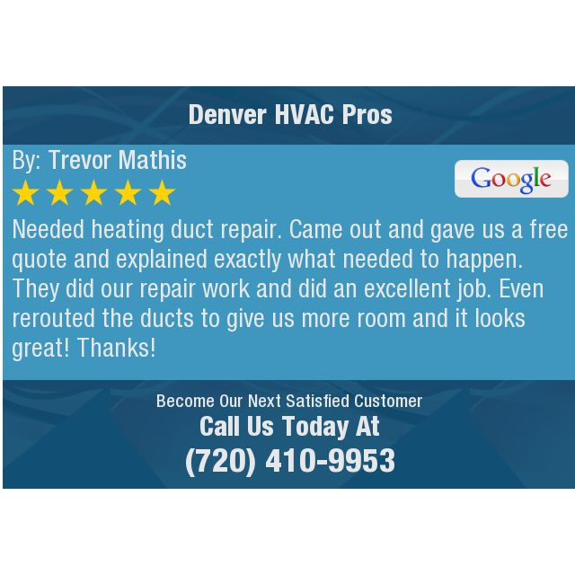 Needed Heating Duct Repair Came Out And Gave Us A Free Quote And