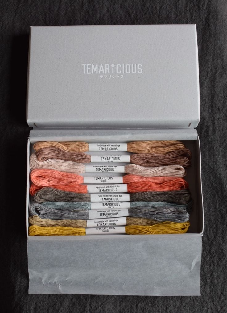 Temaricious Hand Dyed Cotton Thread with Natural Source