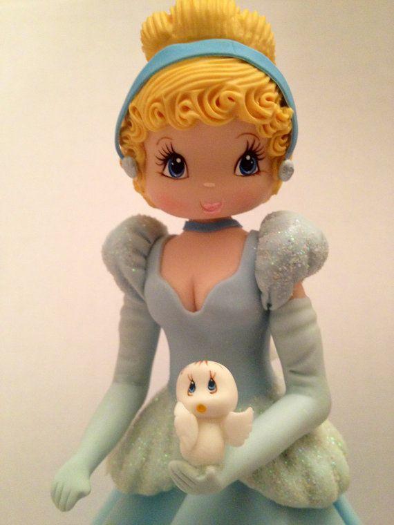 Princess Inspired Cold Porcelain Cinderella  Cake Topper or Decoration