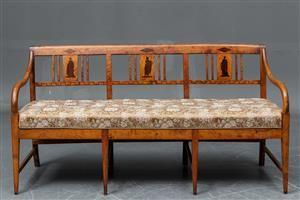 Køb og sælg sofaer - stofsofa, lædersofa, dansk design - Trepersoners empirebænk ca.1840 - DK, Næstved, Gl. Holstedvej