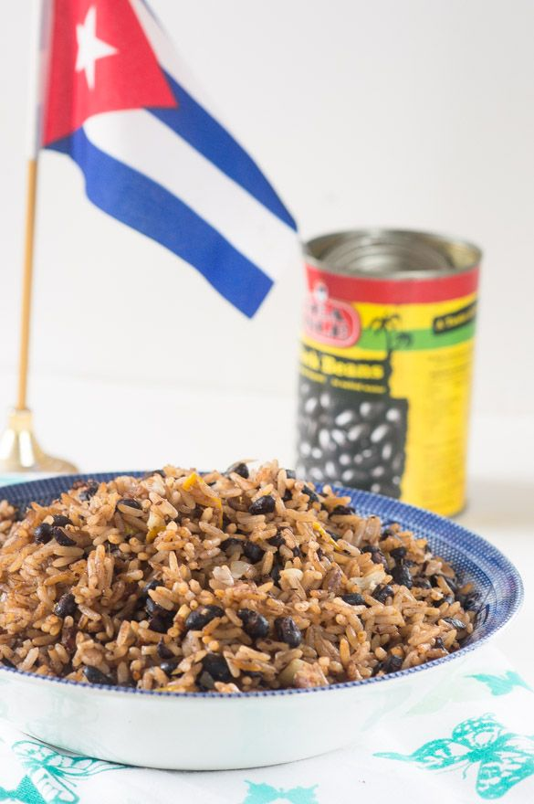 Moros y cristianos (black beans and rice). The latino version of rice and peas (peas and rice)
