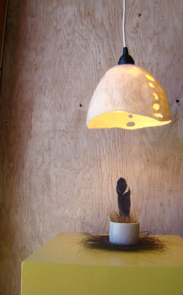 Fiona Duthie felted light fixture