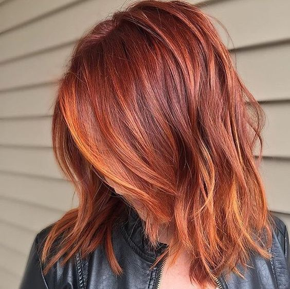 mediem hair styles the 25 best orange hair ideas on fiery 3425 | ed074fb05035e934ffdb4dd0a89e3425 haircuts for fine hair layered haircuts