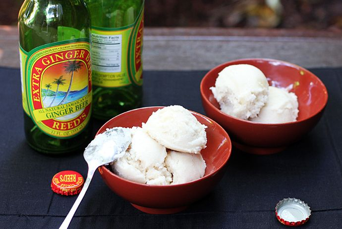 ginger beer, coconut and rum sorbet. Hell yeah!: Coconut Ice Cream, Gluten Free Desserts, Gingers Ice Cream, Gingers Bear, Coconut Sorbet, Gingers Coconut, Coconut Rum, Rum Sorbet, Ginger Beer