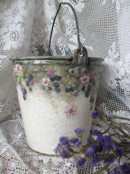 "Exterior and giving handmade.  Fair Masters - handmade Planters-large bucket ""Dikakaya blackberry"" (sold).  Handmade."
