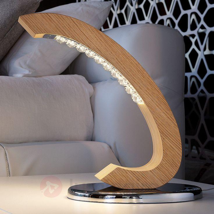 Lampe à poser LED Libe TL, référence 6516246 - Lampes et luminaires en bois  - Esprit nature à découvrir chez Luminaire.fr !