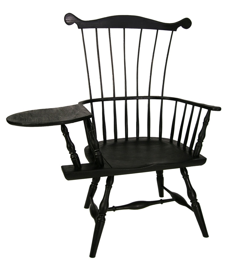 Windsor Connecticut Writing Arm Chair