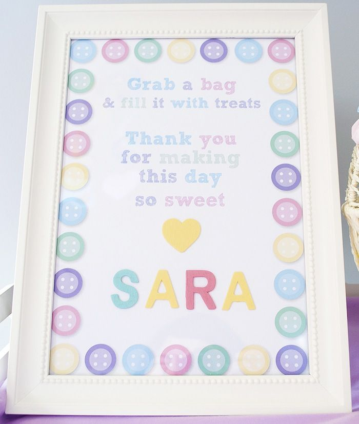 Cute as a Button Baby Shower with So Many Cute Ideas via Kara's Party Ideas | KarasPartyIdeas.com #girlbabyshower #cuteasabuttonparty #partyideas (14) | Kara's Party Ideas