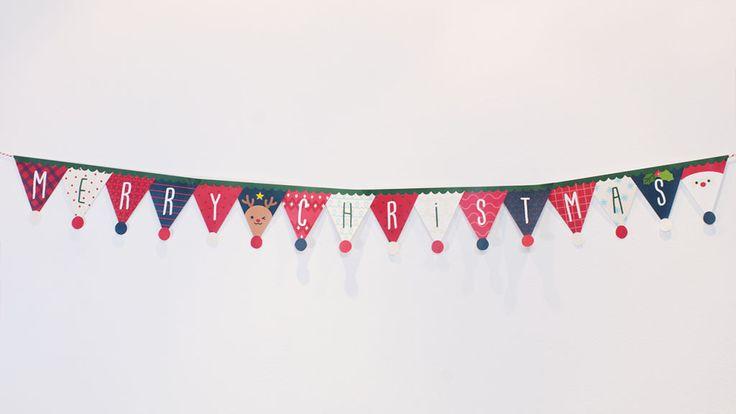 """허전한 벽을 멋지게 크리스마스 깃발 가랜드 만들기! """" 크리스마스 깃발 가랜드 !"""" 크리스마스 깃발 가랜드 반짝반짝 꼬마 전구와 함께 허전한 벽을 가렌드로 꾸며 보세요! 크리스마스 분위기 제대로 Up! Up! 깃발의 뾰족한 부분에 동그라미가"""